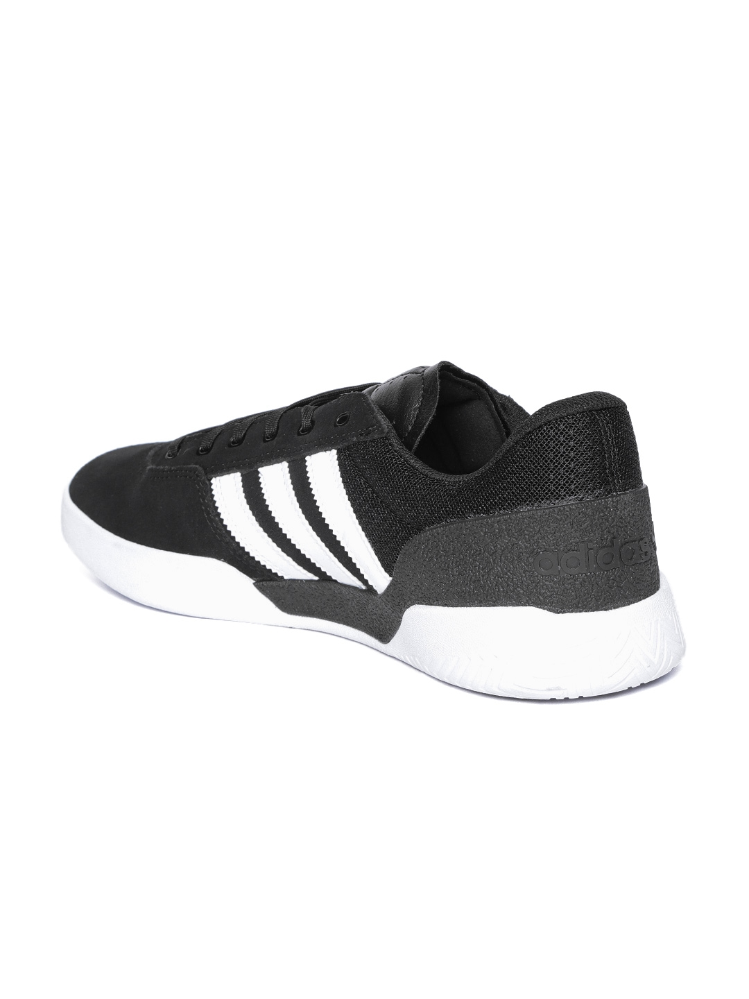 new styles eb06f 6e397 ADIDAS Originals Men Black City Cup Suede Skateboarding Shoes