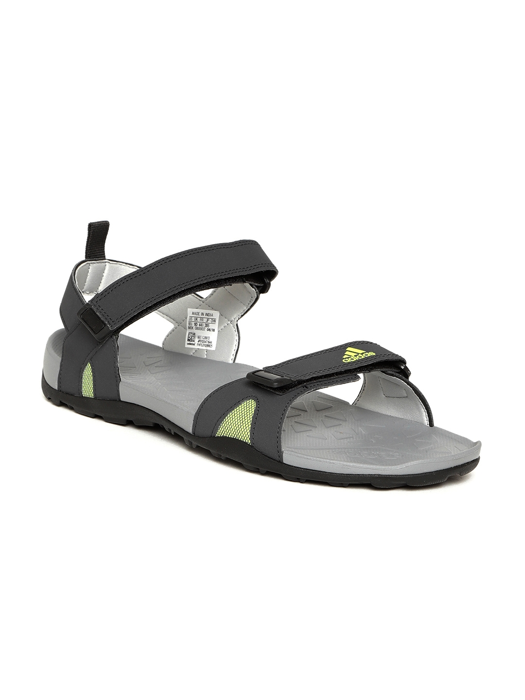 204658d49b00 Buy ADIDAS Men Grey Fassar Sports Sandals - Sports Sandals for Men ...