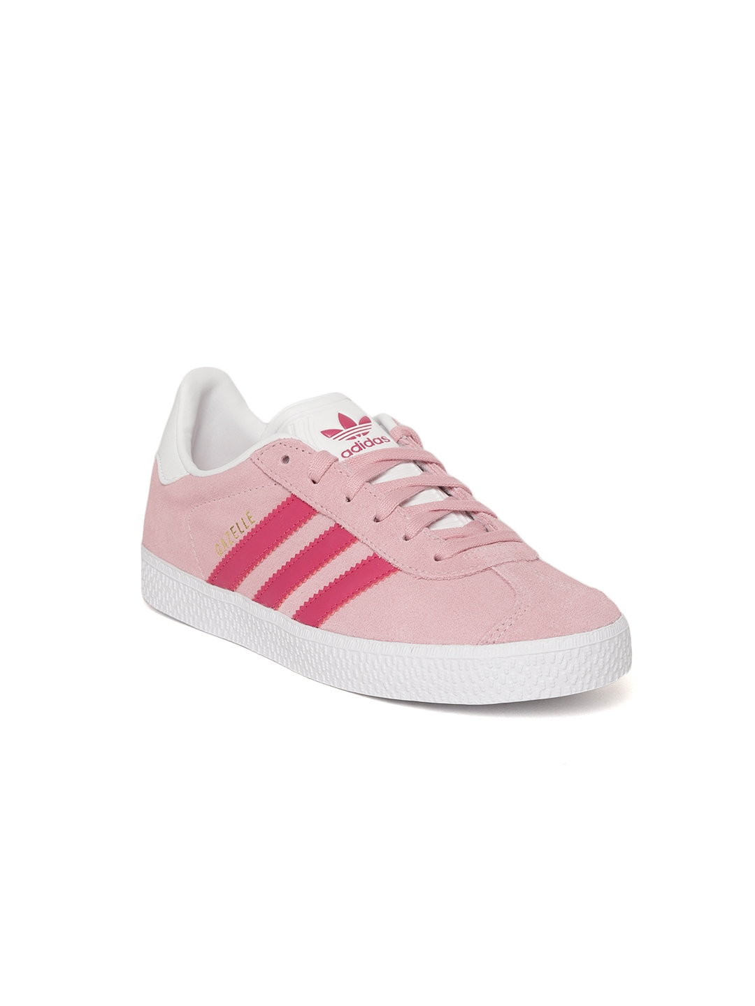 official photos 44dcc 40817 Adidas Originals Kids Pink Gazelle C Suede Sneakers