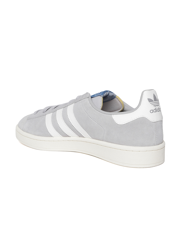 Buy Adidas Originals Men Grey Campus Suede Leather Sneakers - Casual ... 1cab8b300
