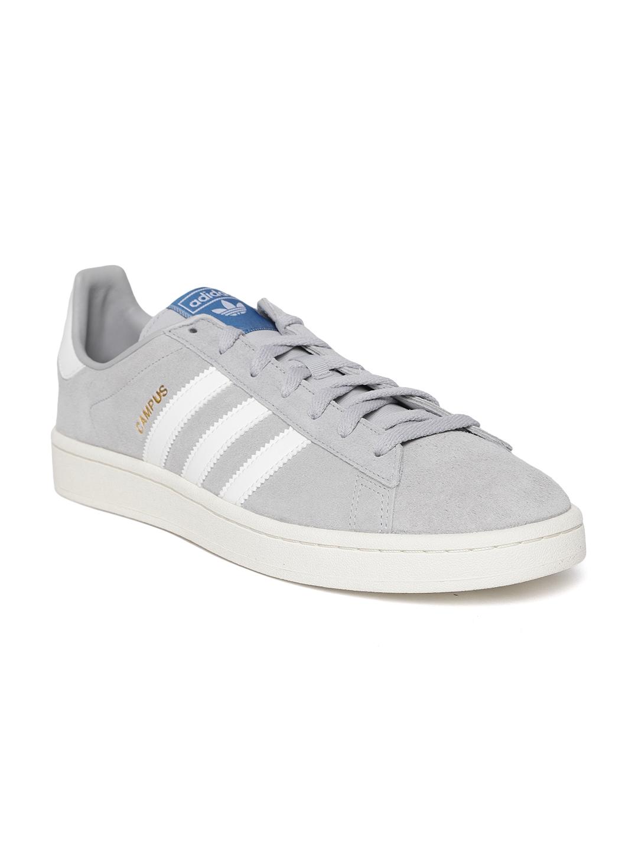 5d73ed33fa6 Buy Adidas Originals Men Grey Campus Suede Leather Sneakers - Casual ...