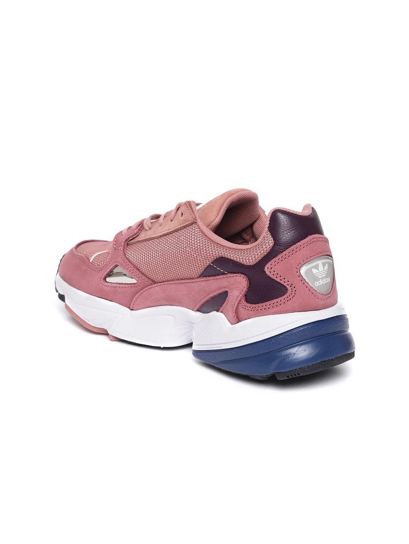 0c1d92512043 ADIDAS Originals Women Rust Red   Pink Falcon Colourblocked Sneakers
