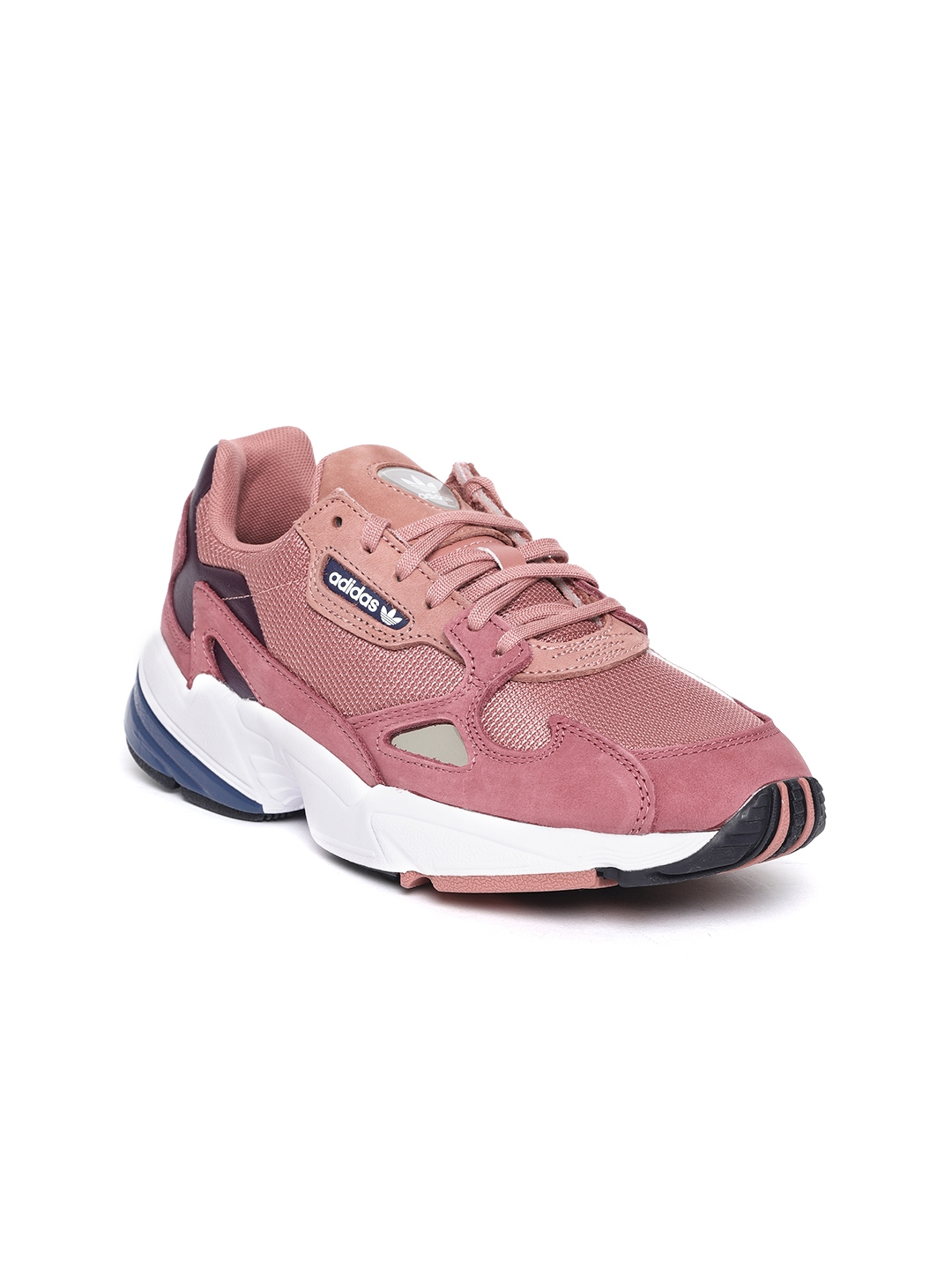 7f36622400ff3 ADIDAS Originals Women Rust Red   Pink Falcon Colourblocked Sneakers