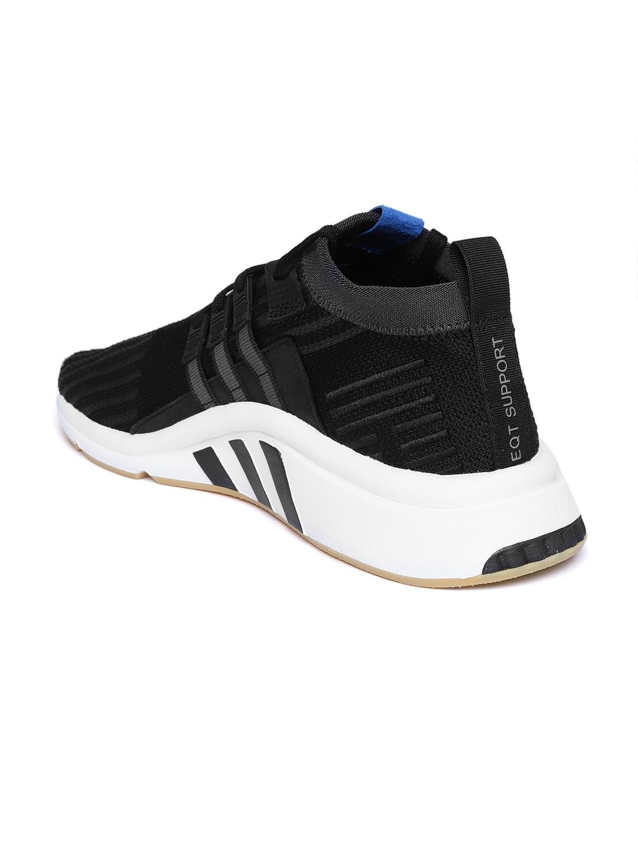 ee2d4f690ace ADIDAS Originals Men Black Woven Design EQT Support Mid ADV PrimeKnit  Sneakers
