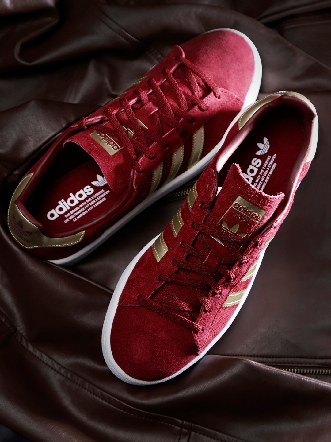 super popular ac7b0 e70f2 ADIDAS Originals Women Maroon Campus Nubuck Leather Sneakers