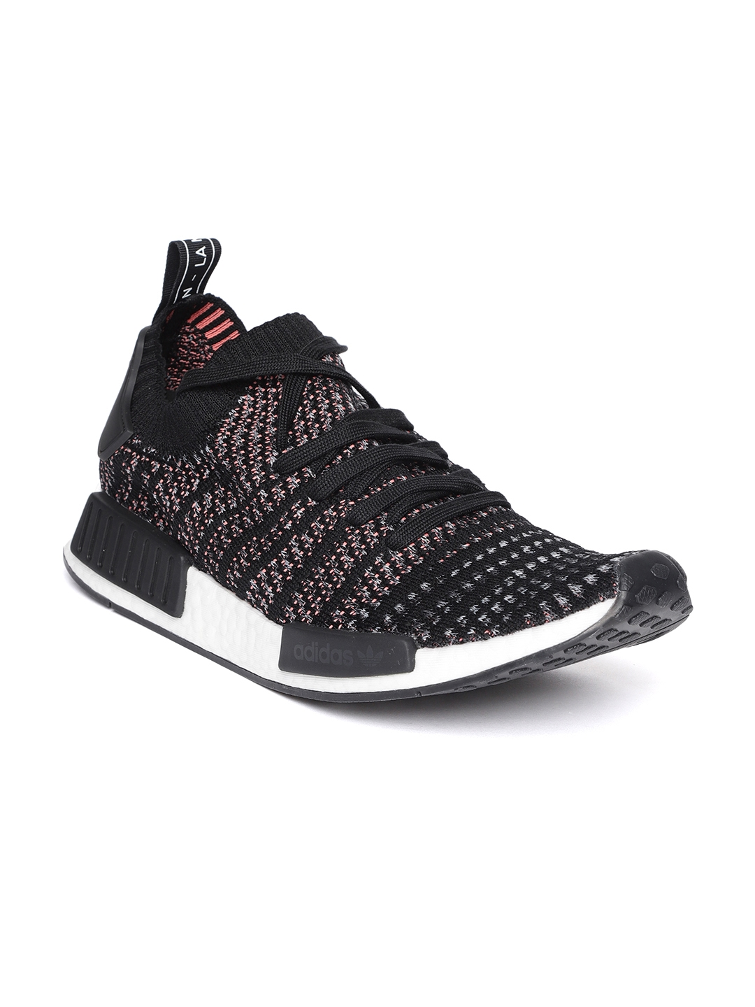 7cc197473 Buy ADIDAS Originals Men Black NMD R1 STLT Primeknit Sneakers ...