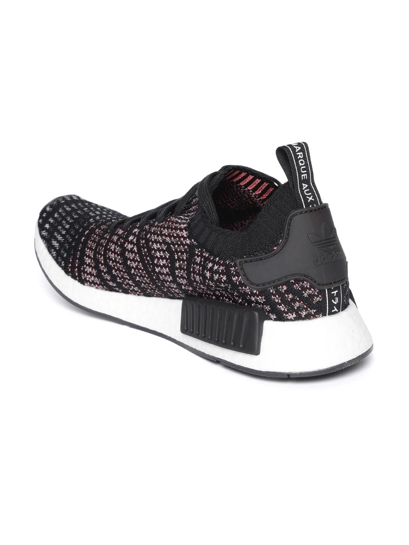 d065c63f5554 Buy ADIDAS Originals Men Black NMD R1 STLT Primeknit Sneakers ...