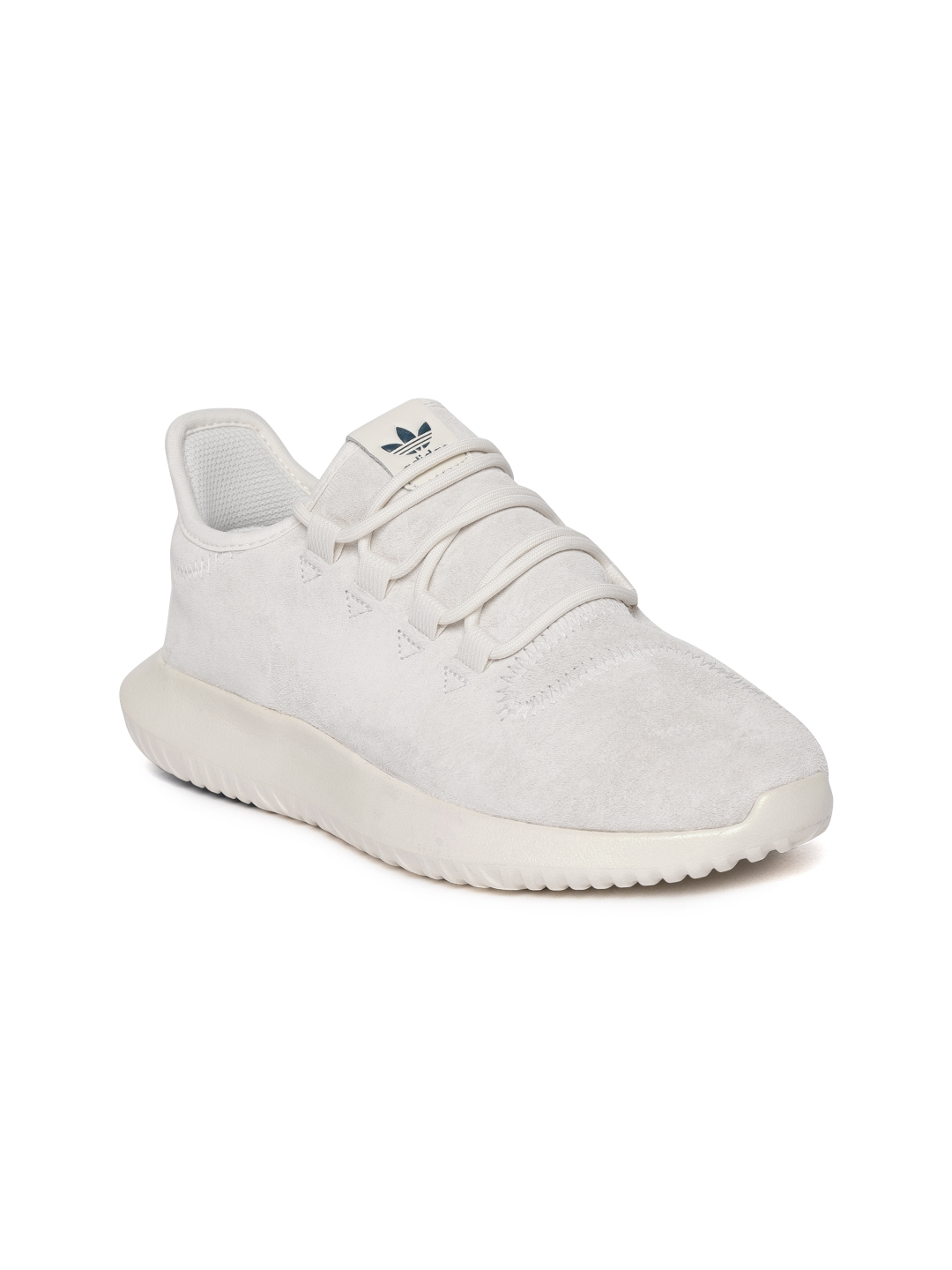 best website e0598 aa21c Adidas Originals Women Off-White Tubular Shadow Suede Sneakers