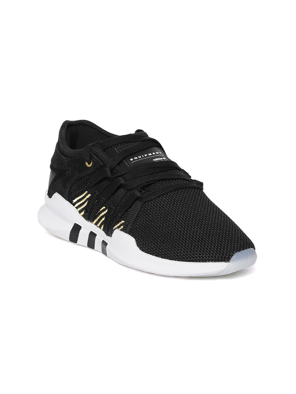 sports shoes 5240e 11ef1 ADIDAS Originals Women Black EQT ADV Racing Sneakers