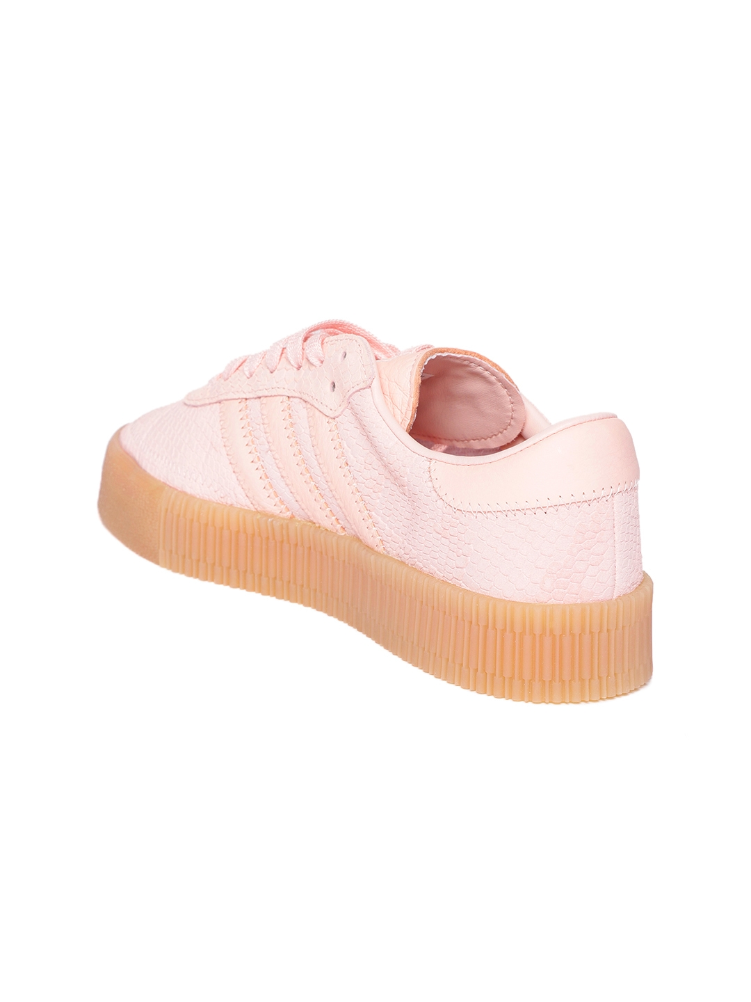 Adidas Originals Women Pink Snake Skin Textured Samba Rose Sneakers fc58036555