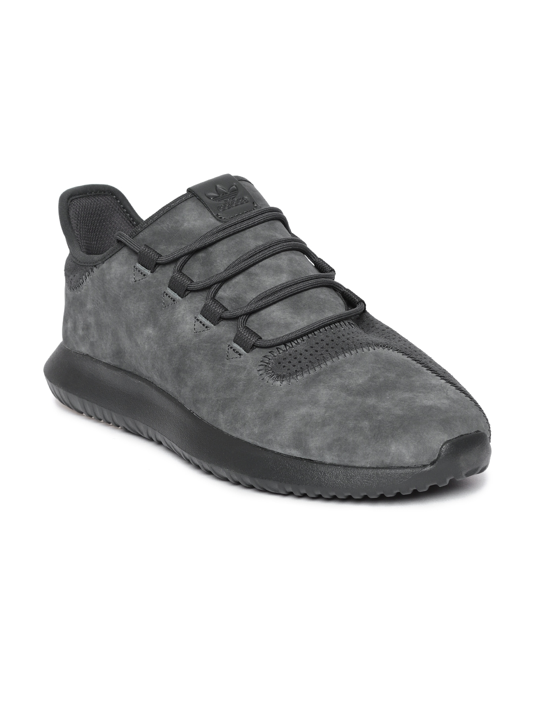 d3e1175d64be4 Buy Adidas Originals Men Charcoal Grey Suede Tubular Shadow Sneakers ...
