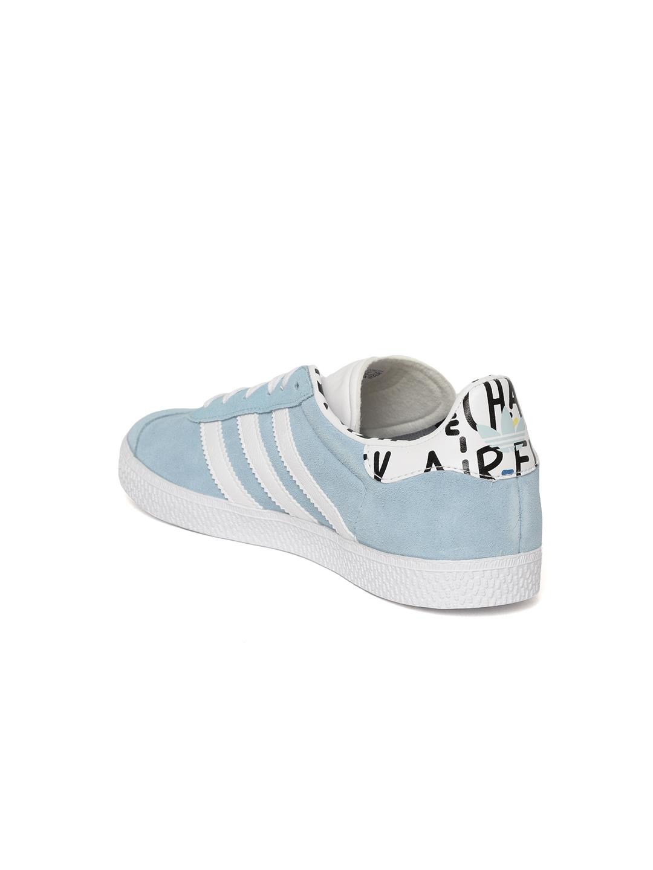 finest selection 07760 f0171 Adidas Originals Kids Blue Gazelle J Suede Sneakers