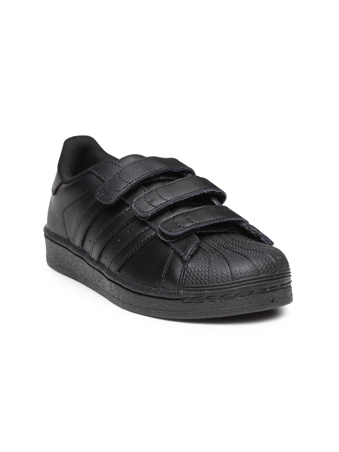 low priced 98366 1628d ADIDAS Originals Kids Black Superstar Foundation CF C Sneakers