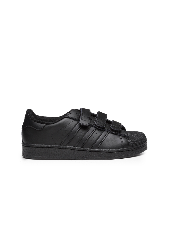 low priced 5436a 6d565 ADIDAS Originals Kids Black Superstar Foundation CF C Sneakers