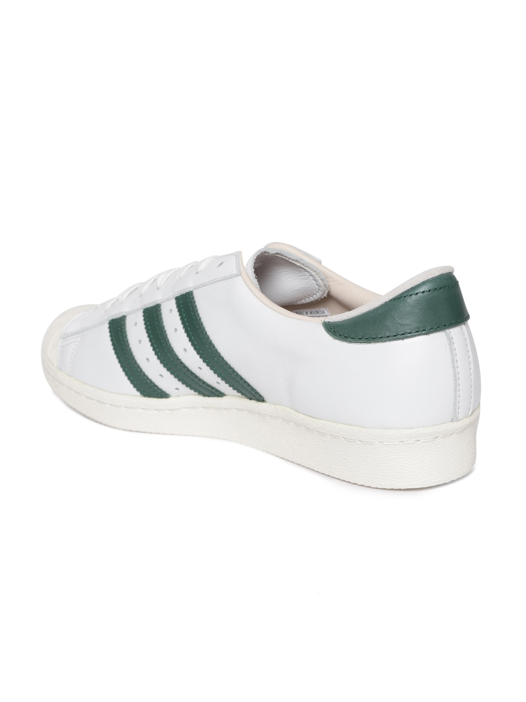 pick up 7220d f2e34 ADIDAS Originals Men White Superstar 80S RECON Leather Sneakers