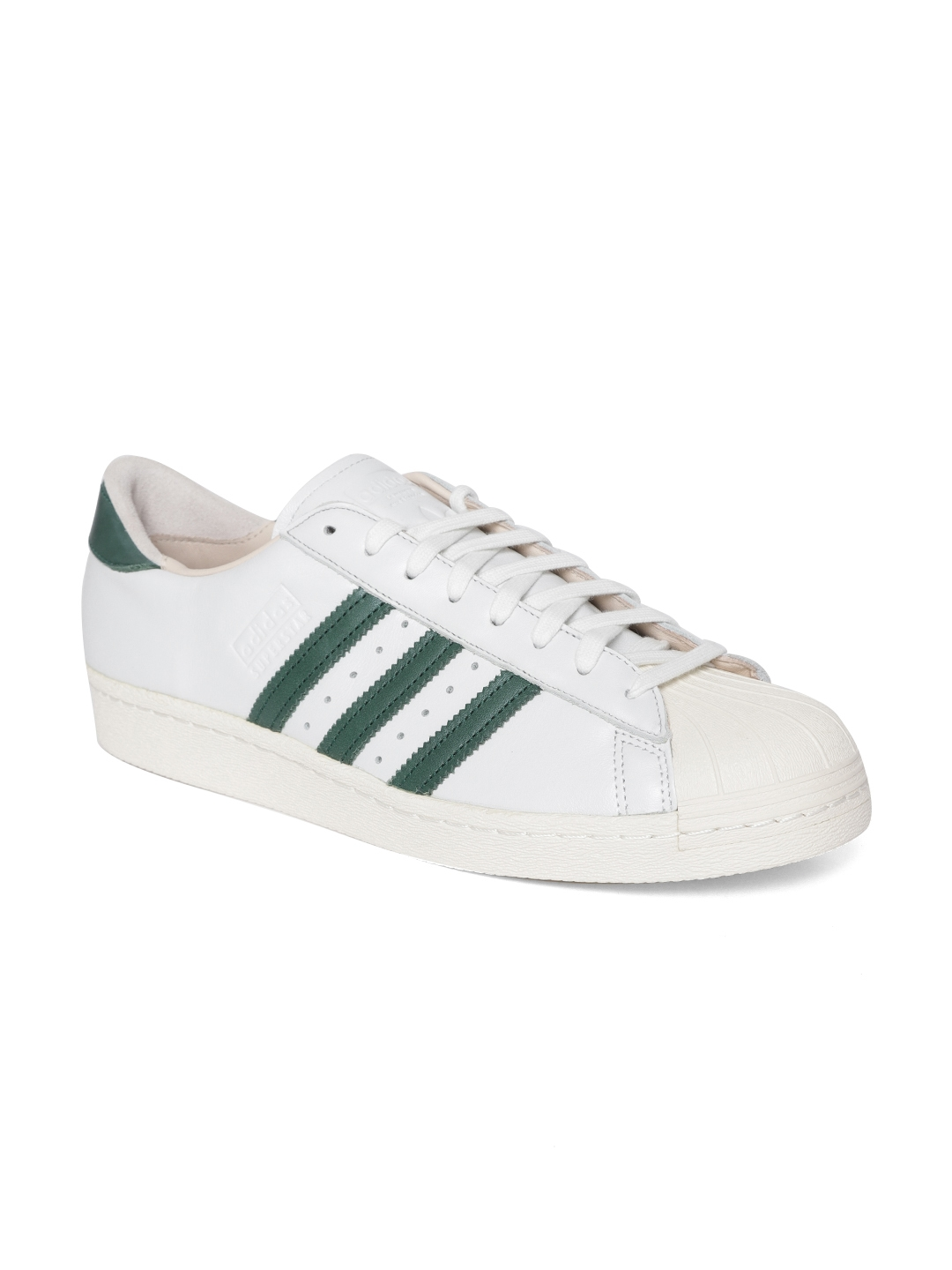 3ff5b6b605ad Buy ADIDAS Originals Men White Superstar 80S RECON Leather Sneakers ...