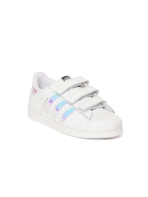 e3438623ee5 Buy Adidas Originals Kids White Superstar CF C Sneakers - Casual ...