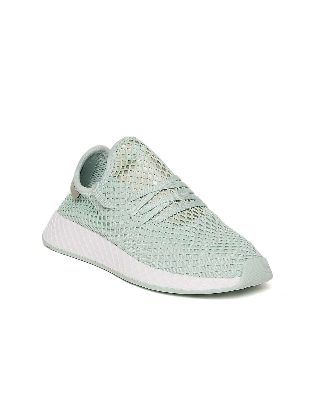 23c014bb87869 Buy Adidas Originals Women Mint Green DEERUPT Patterned Sneakers ...