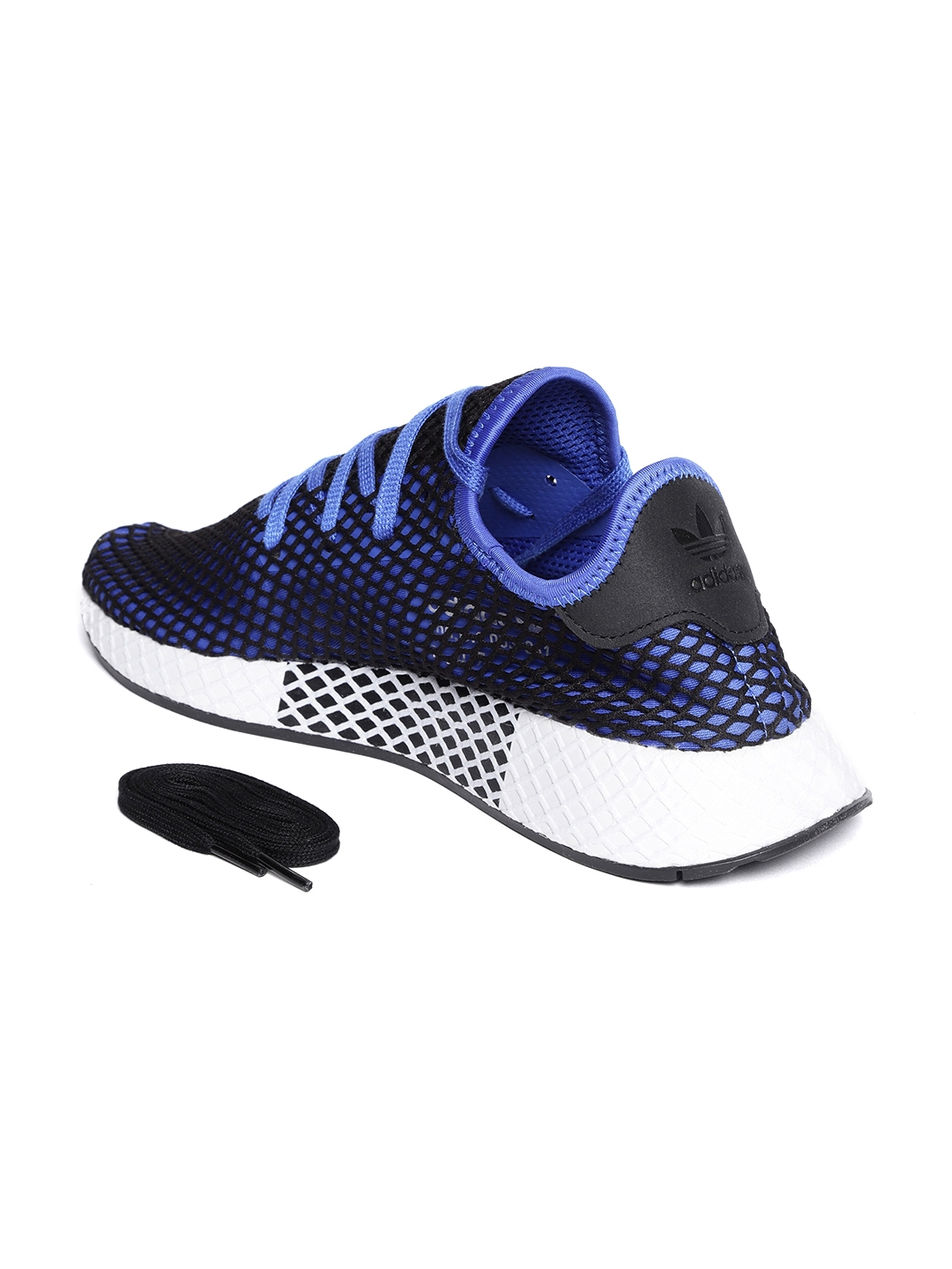 the latest 7ada0 bace2 Adidas Originals Men Blue   Black DEERUPT Runner Sneakers