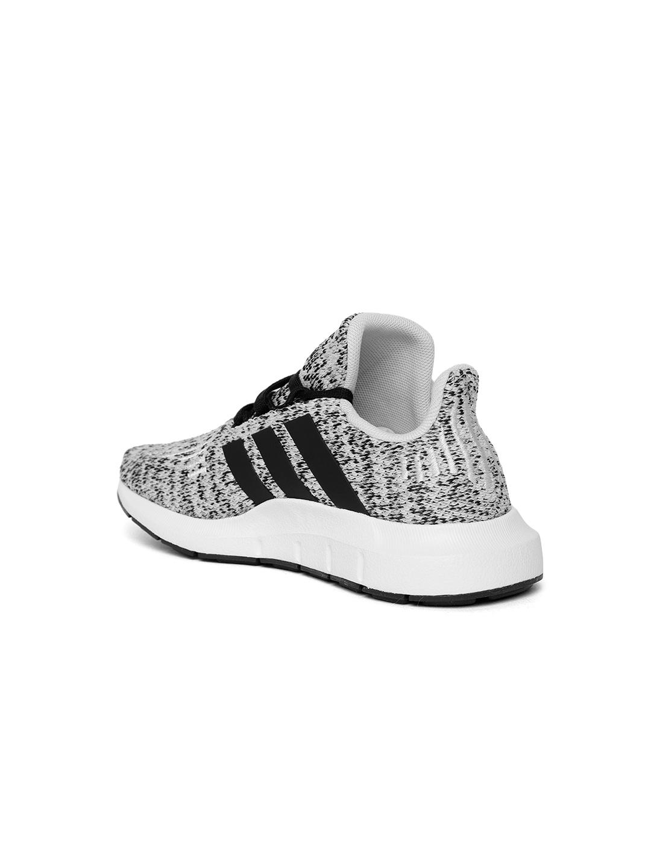 9205f6404 Buy Adidas Originals Kids Off White   Black Swift Run Sneakers ...