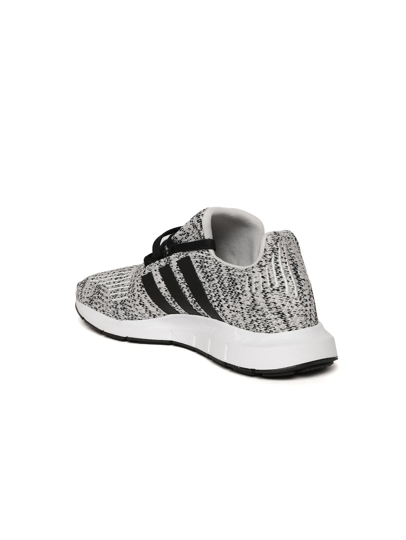 Adidas Originals Kids Grey   Black Swift Run J Patterned Sneakers 2e2ef444b