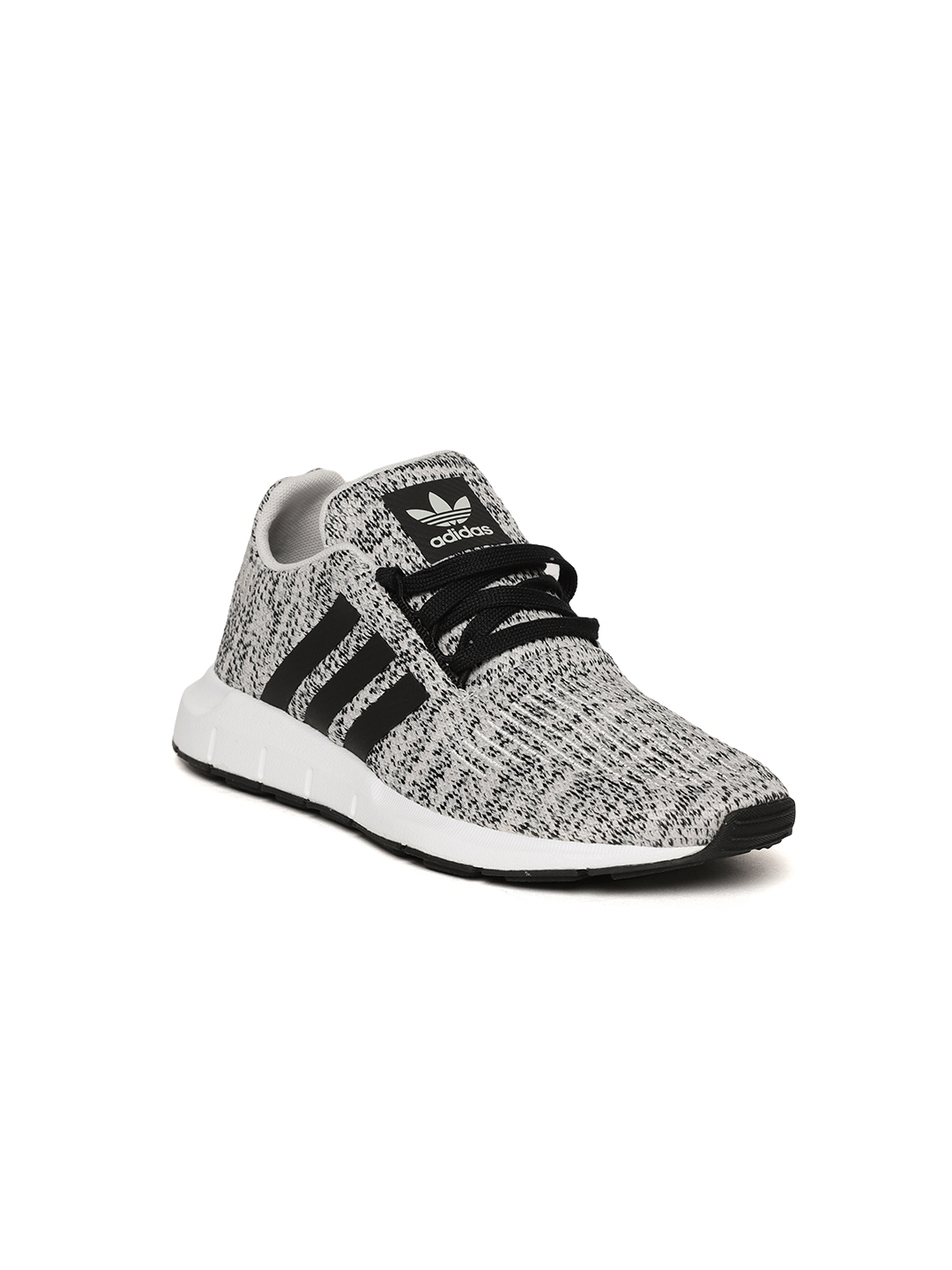 317c7a30f Adidas Originals Kids Grey   Black Swift Run J Patterned Sneakers