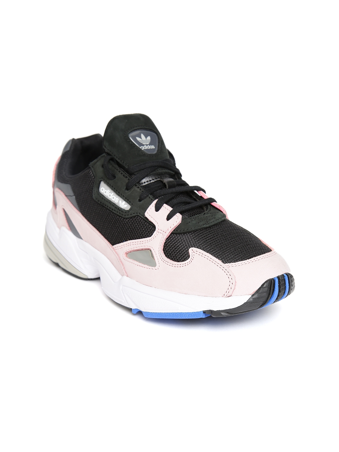 aba8d609cca39f ADIDAS Originals Women Black & Pink Colourblocked Falcon Sneakers