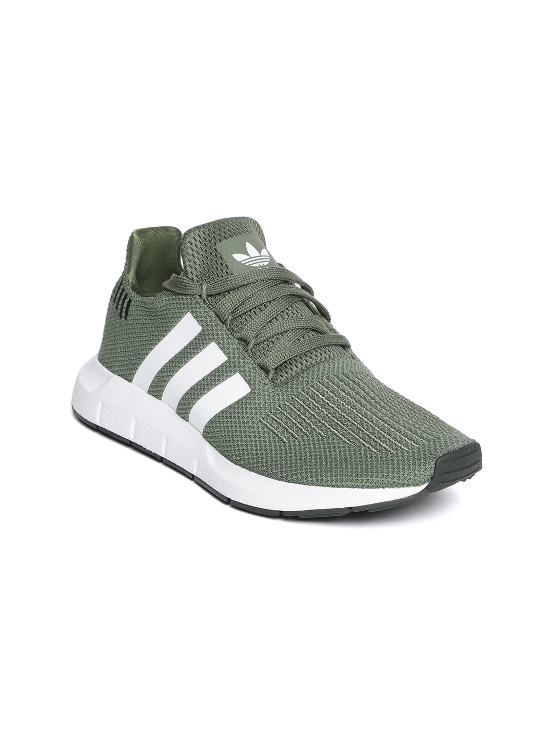 67ff2652875 Adidas Originals Women Olive Green Swift Run Woven Design Sneakers