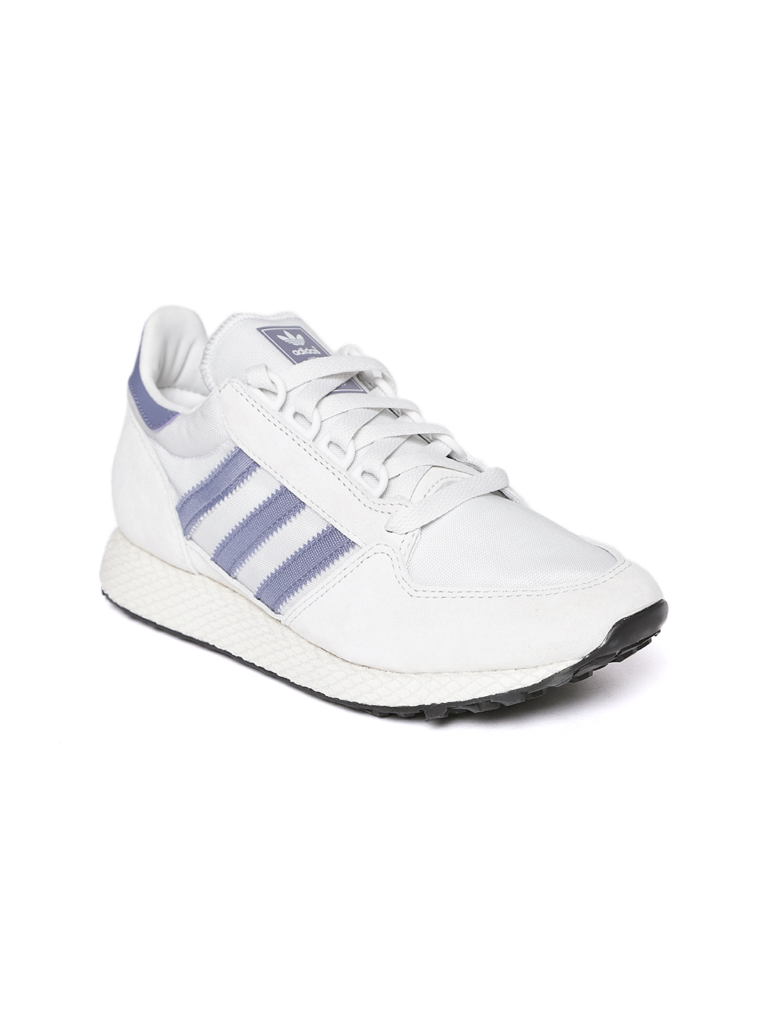 2afad2582a40 Buy ADIDAS Originals Women Off White Forest Grove Suede Sneakers ...