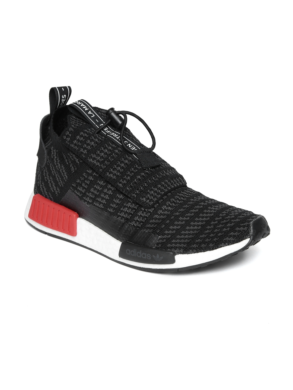 40f6e0eca ADIDAS Originals Men Black Woven Design NMD TS1 Primeknit Sneakers