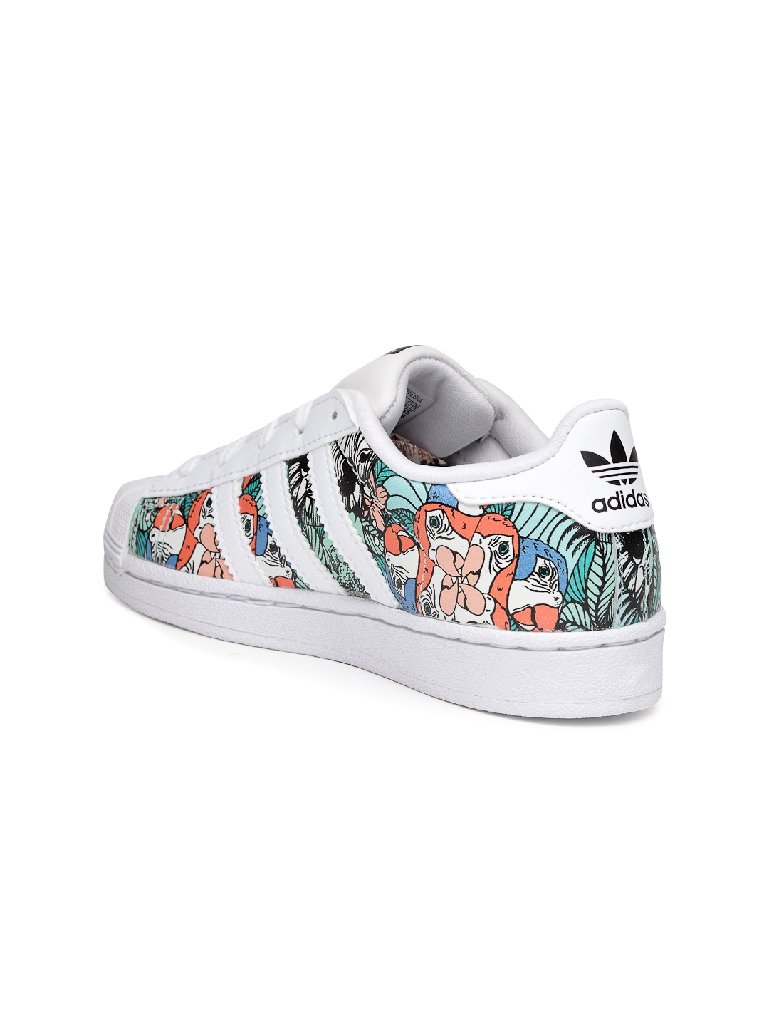 on sale e3abc 44002 ADIDAS Originals Kids White   Green Superstar C Printed Sneakers