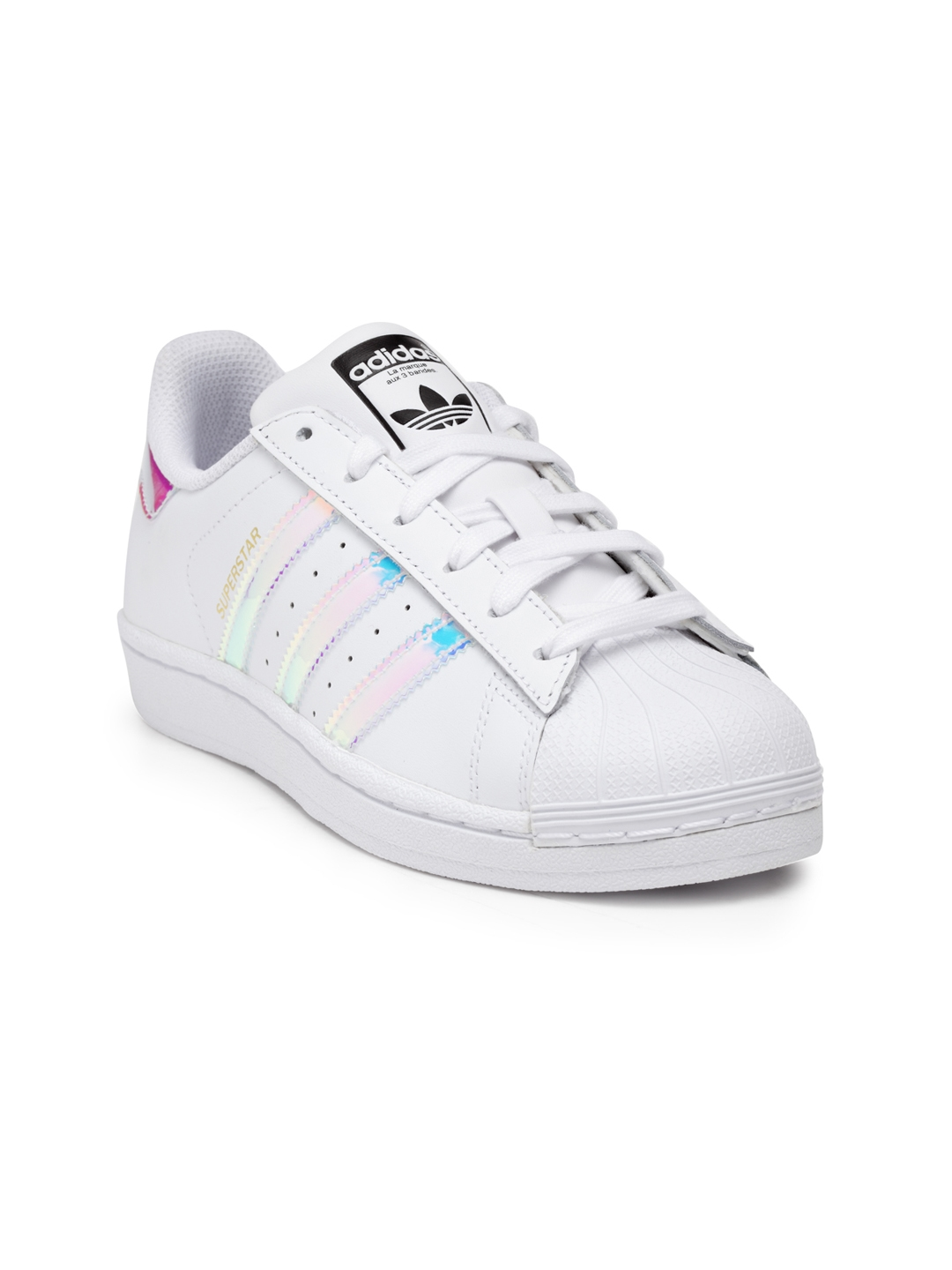 new styles 4d252 4a34c ADIDAS Originals Kids White Superstar Sneakers