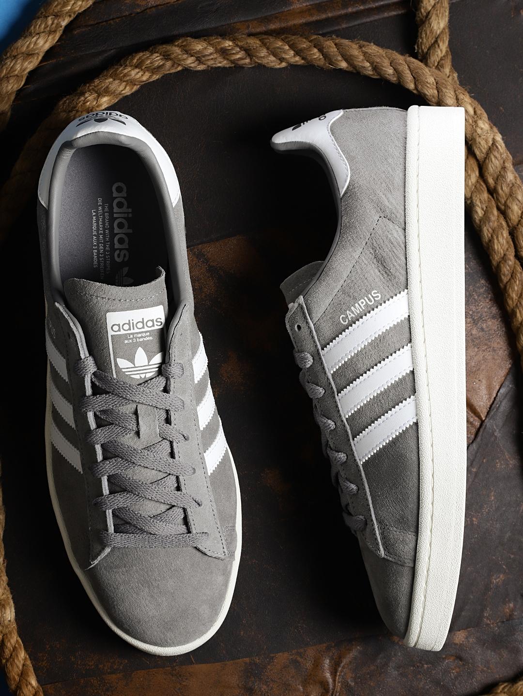 Buy ADIDAS Originals Men Grey Campus Sneakers - Casual Shoes for Men ... de7ef610d