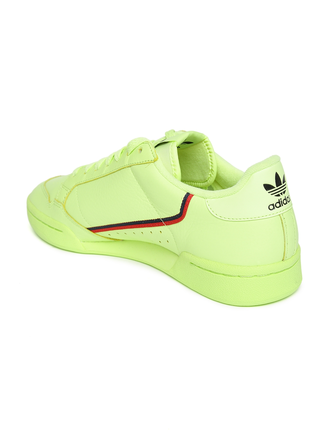 c026ca87020 ADIDAS Originals Fluorescent Green Continental 80 Leather Sneakers