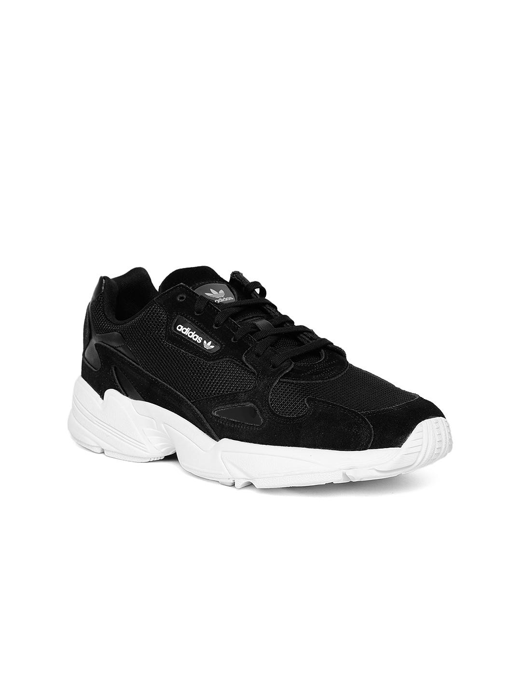 3ed4d1772 ADIDAS Originals Women Black Falcon Sneakers