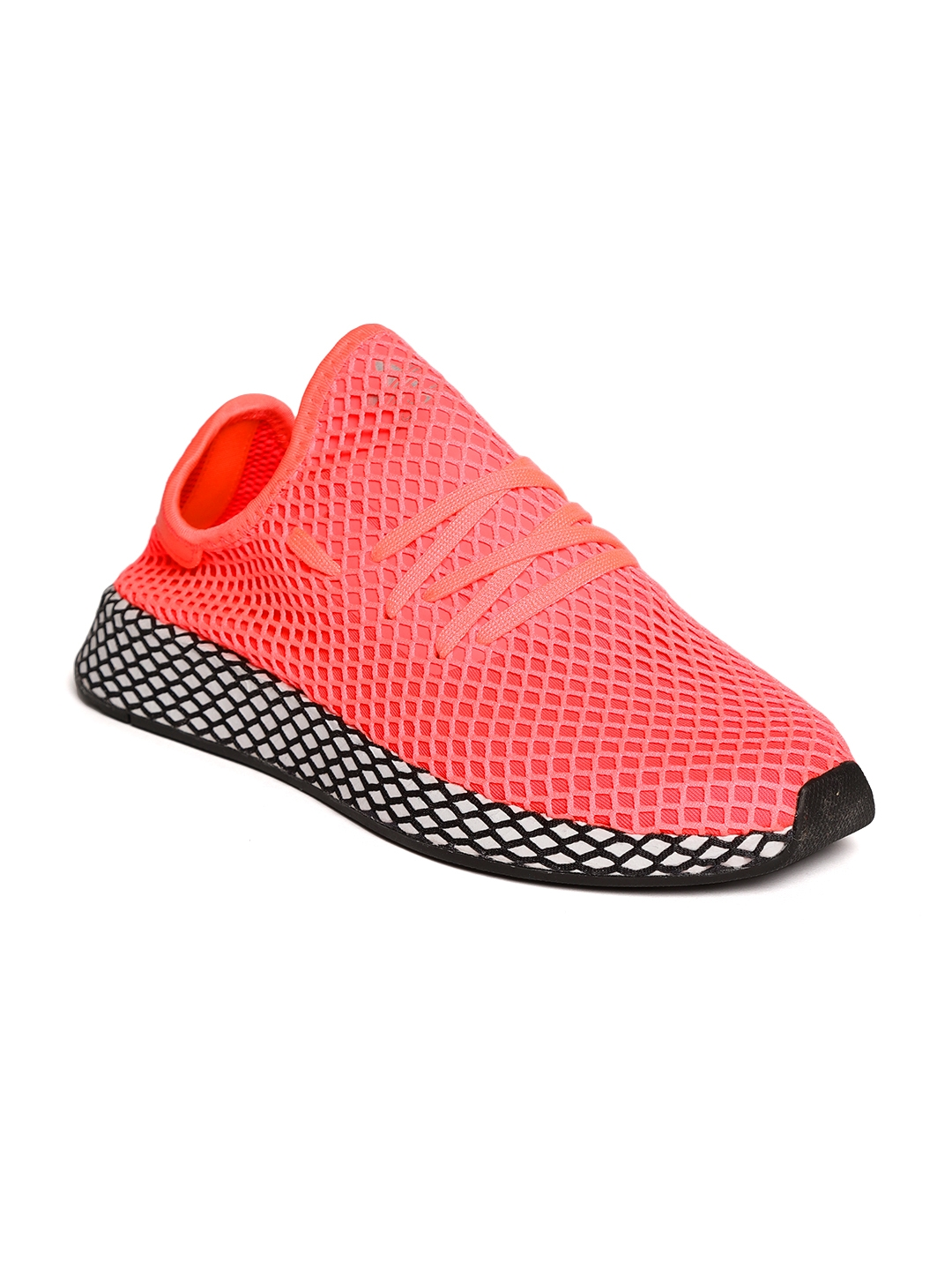 online retailer a8650 9cadf ADIDAS Originals Men Neon Pink DEERUPT Running Shoes
