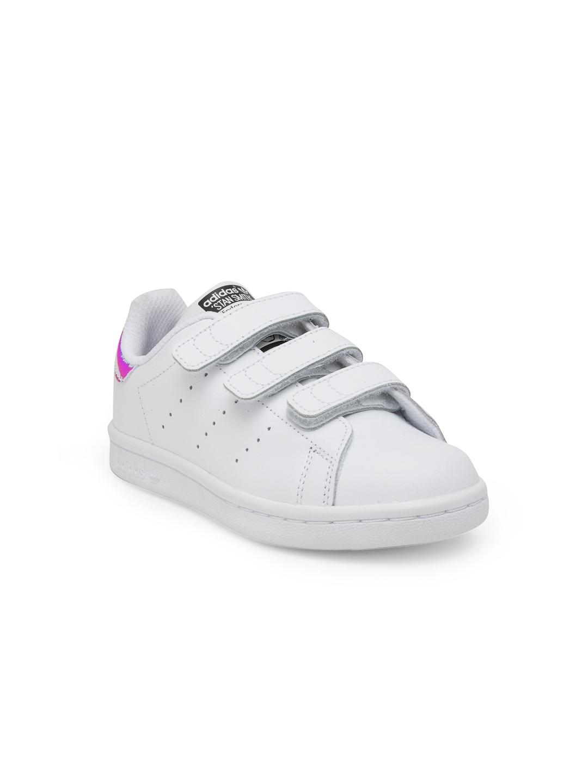 213614ac93e Buy Adidas Originals Kids White Stan Smith Cloudfoam C Sneakers ...