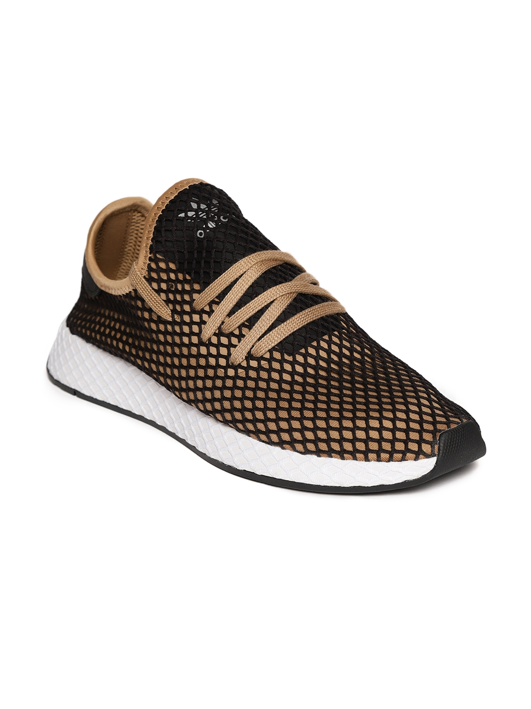e6ef2cf849039 Buy ADIDAS Originals Men Black   Beige Deerupt Runner Sneakers ...