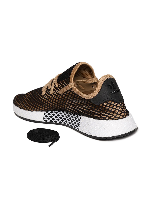 best service 57d08 b5a84 ADIDAS Originals Men Black  Beige Deerupt Runner Sneakers