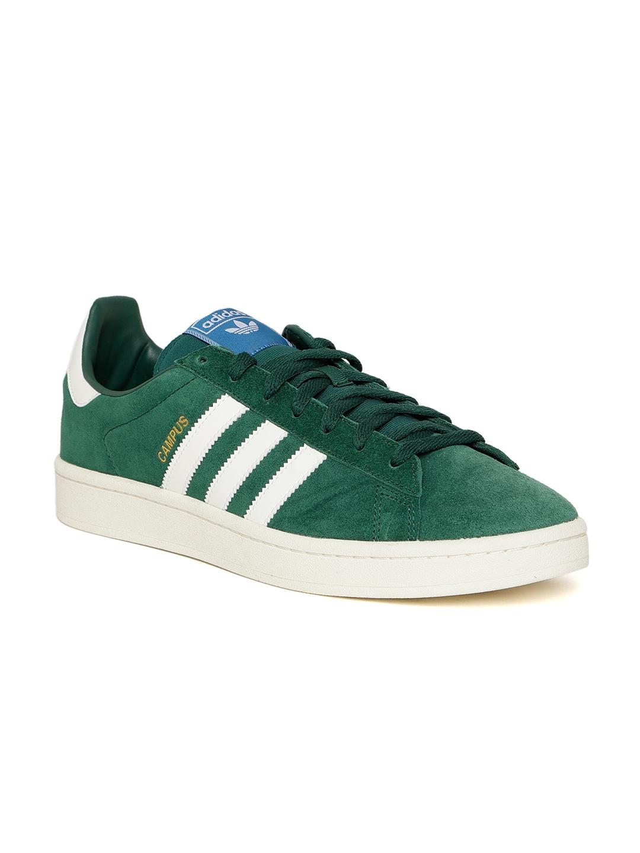 Buy Adidas Originals Men Green Campus Suede Sneakers - Casual Shoes ... 823db6dfc