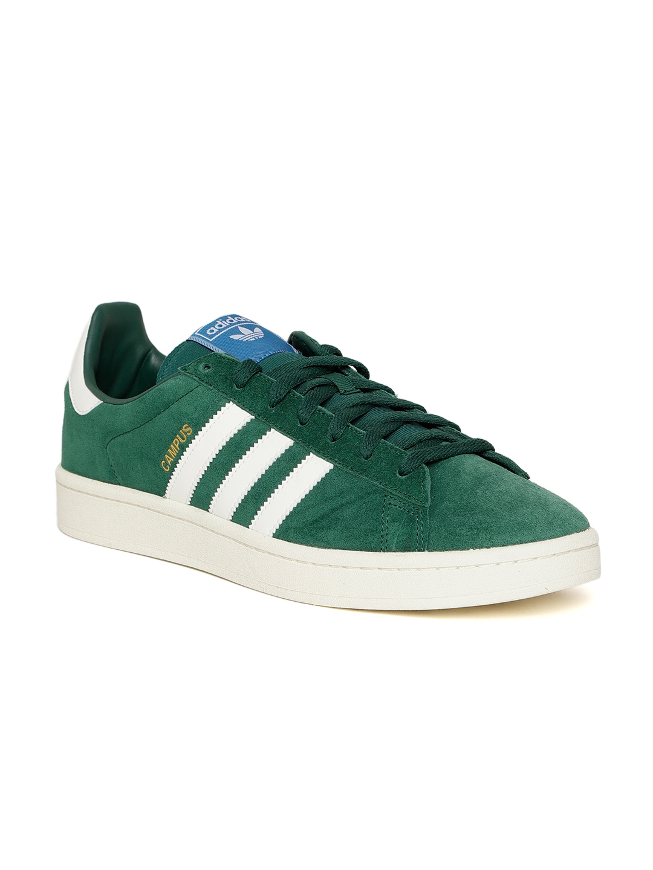 newest 81c2f 20d1b Adidas Originals Men Green Campus Suede Sneakers