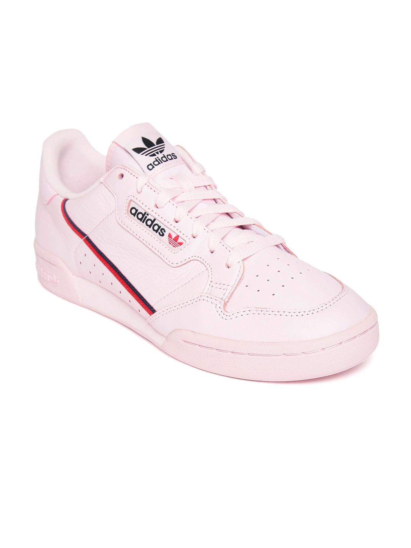 Buy Adidas Originals Men Pink Continental 80 Leather Sneakers