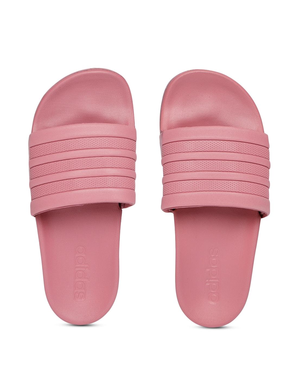 purchase cheap 17c77 07c3d ADIDAS Women Pink ADILETTE Comfort Striped Sliders