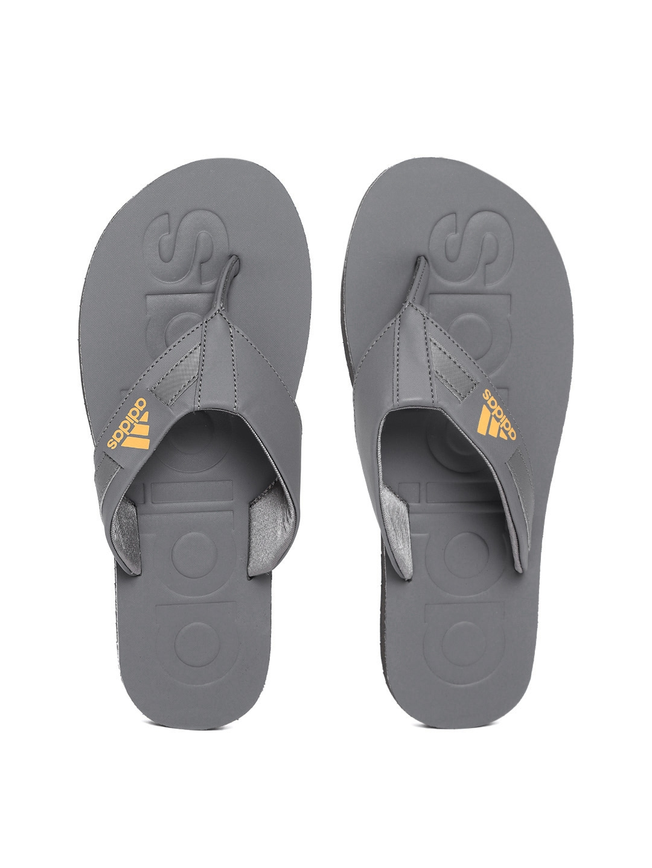 e1d0cc3d6f99 Buy ADIDAS Men Charcoal Grey SLALON 2018 Solid Thong Flip Flops ...