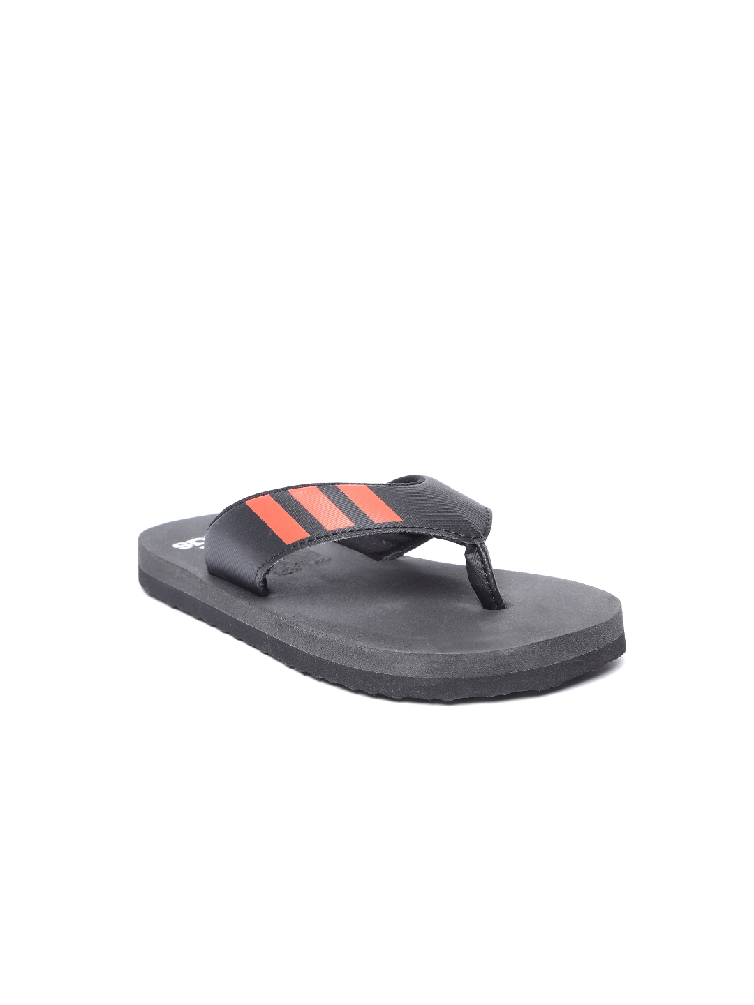 26652de3bf49 Buy ADIDAS Boys Black   Charcoal Grey COSET Thong Flip Flops - Flip ...