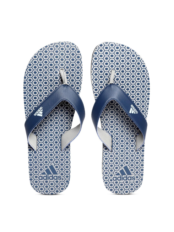af25e3238 Buy ADIDAS Men Navy Blue   Grey Beach Print Maxout 2 Thong Flip ...