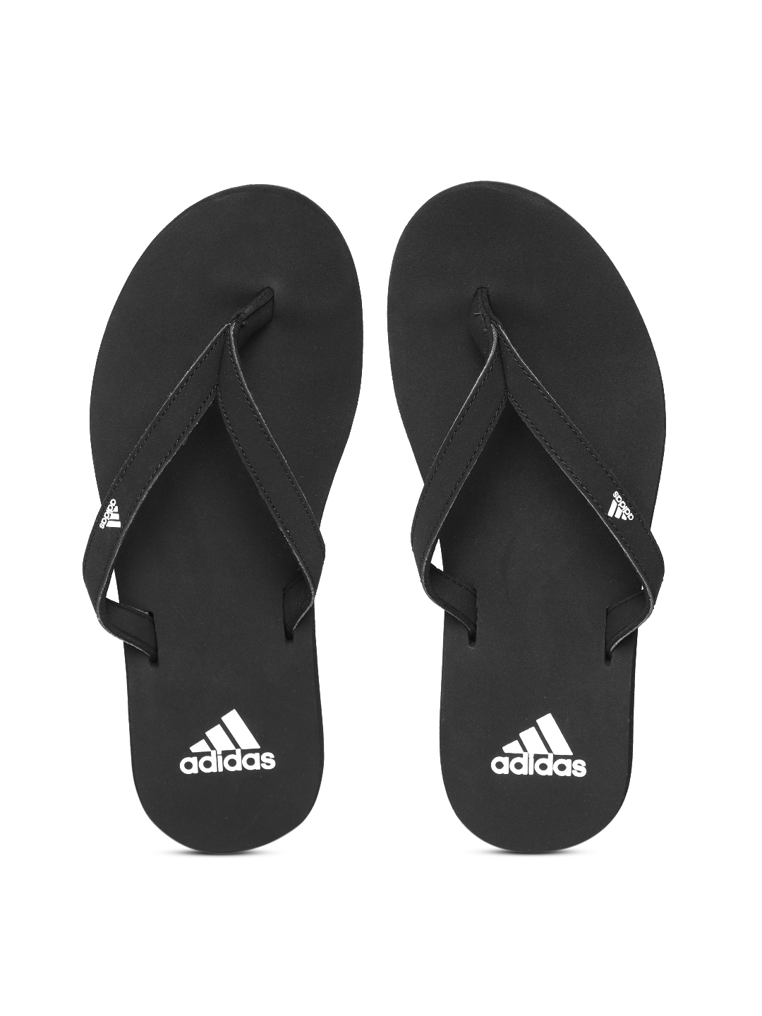 low priced c9cd3 eb6e2 ADIDAS Women Black EEZAY Solid Thong Flip-Flops