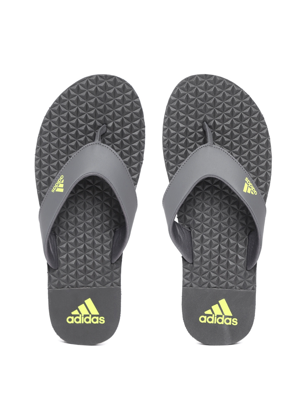 fa5551798052 Buy ADIDAS Men Charcoal Grey BISE Solid Thong Flip Flops - Flip ...