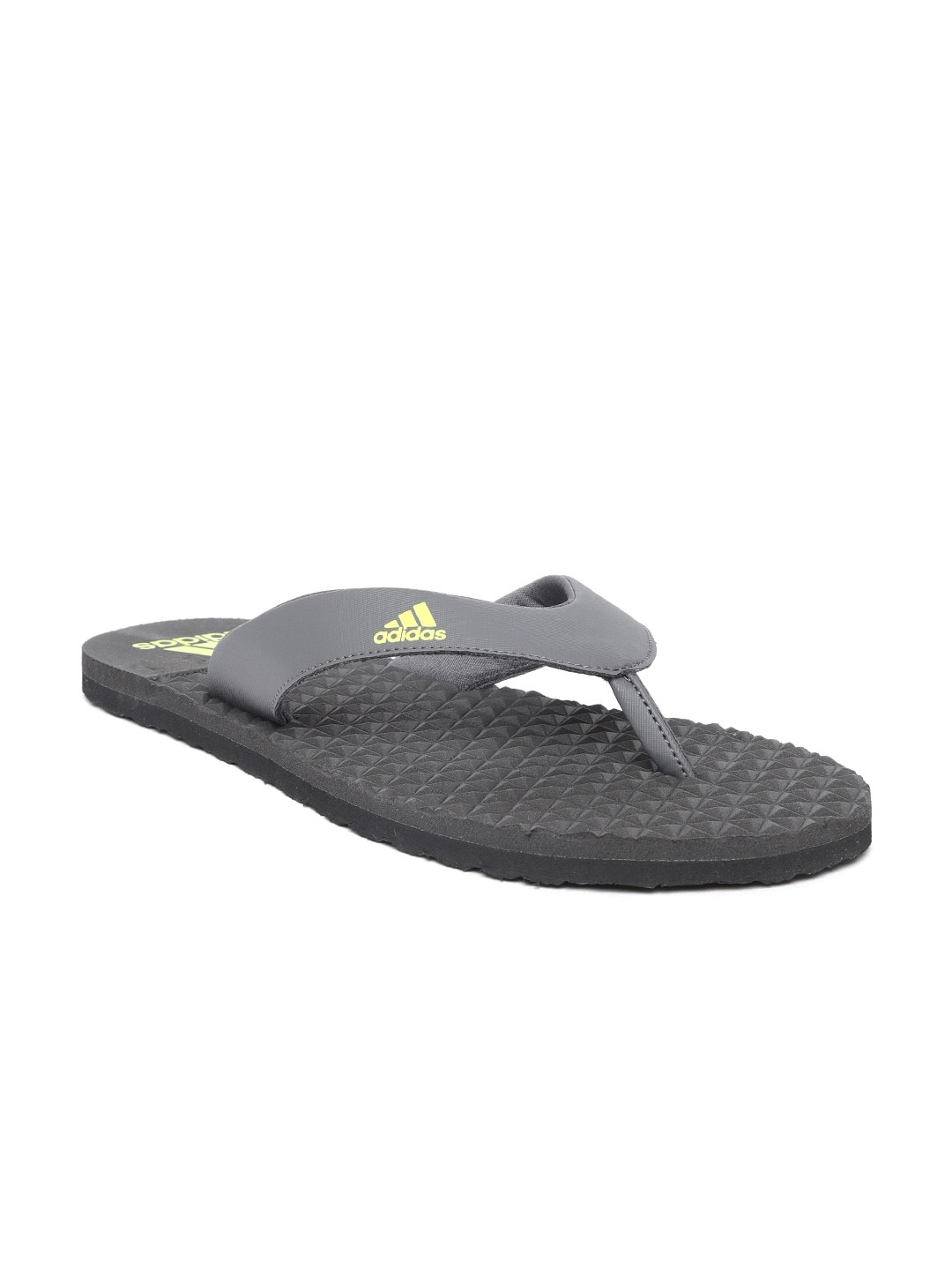 0f1cfcee7ceb9 Buy ADIDAS Men Charcoal Grey BISE Solid Thong Flip Flops - Flip ...