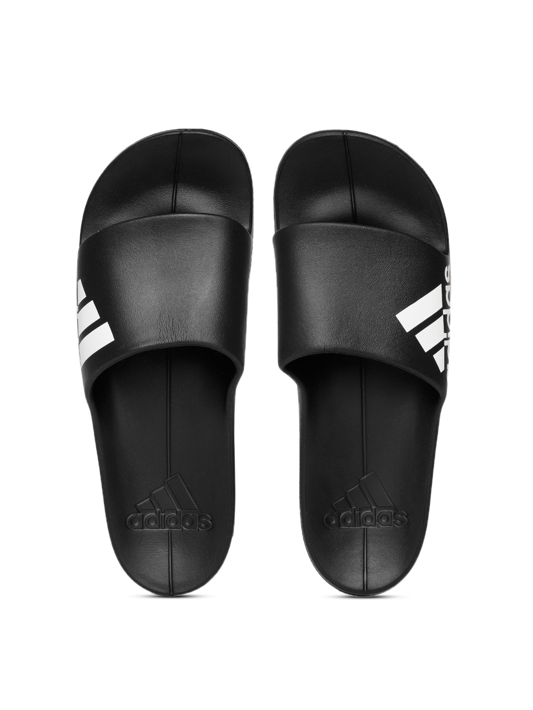 ea794741367 Buy ADIDAS Men Black Aqualette Cloudfoam Sliders - Flip Flops for ...